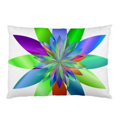 Chromatic Flower Variation Star Rainbow Pillow Case (two Sides) by Alisyart