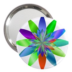 Chromatic Flower Variation Star Rainbow 3  Handbag Mirrors by Alisyart