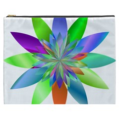 Chromatic Flower Variation Star Rainbow Cosmetic Bag (xxxl)