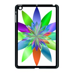 Chromatic Flower Variation Star Rainbow Apple Ipad Mini Case (black) by Alisyart