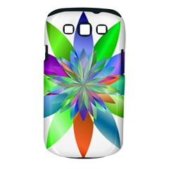 Chromatic Flower Variation Star Rainbow Samsung Galaxy S Iii Classic Hardshell Case (pc+silicone)