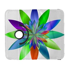 Chromatic Flower Variation Star Rainbow Galaxy S3 (flip/folio) by Alisyart