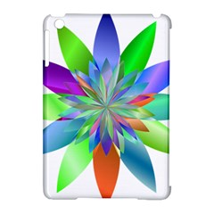 Chromatic Flower Variation Star Rainbow Apple Ipad Mini Hardshell Case (compatible With Smart Cover) by Alisyart