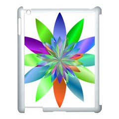 Chromatic Flower Variation Star Rainbow Apple Ipad 3/4 Case (white)