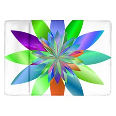 Chromatic Flower Variation Star Rainbow Samsung Galaxy Tab 10 1  P7500 Flip Case