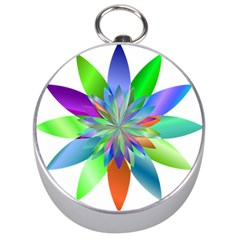 Chromatic Flower Variation Star Rainbow Silver Compasses