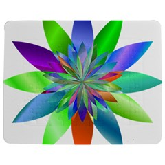 Chromatic Flower Variation Star Rainbow Jigsaw Puzzle Photo Stand (rectangular)