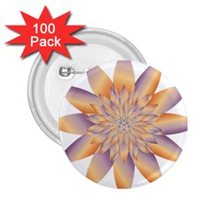 Chromatic Flower Gold Star Floral 2 25  Buttons (100 Pack)  by Alisyart