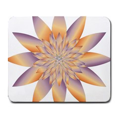 Chromatic Flower Gold Star Floral Large Mousepads by Alisyart