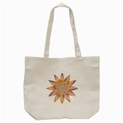 Chromatic Flower Gold Star Floral Tote Bag (cream) by Alisyart