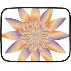 Chromatic Flower Gold Star Floral Fleece Blanket (mini) by Alisyart
