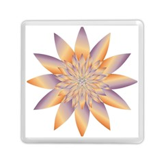 Chromatic Flower Gold Star Floral Memory Card Reader (square)  by Alisyart