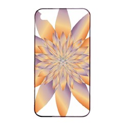 Chromatic Flower Gold Star Floral Apple Iphone 4/4s Seamless Case (black) by Alisyart