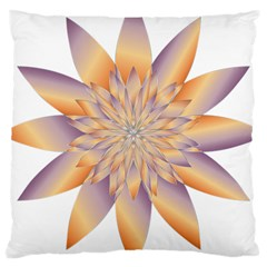 Chromatic Flower Gold Star Floral Large Cushion Case (one Side) by Alisyart