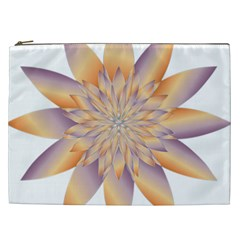 Chromatic Flower Gold Star Floral Cosmetic Bag (xxl)  by Alisyart