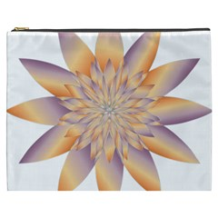 Chromatic Flower Gold Star Floral Cosmetic Bag (xxxl)