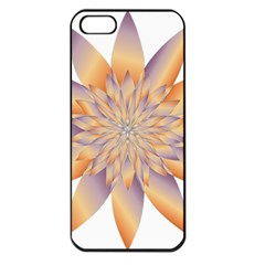 Chromatic Flower Gold Star Floral Apple Iphone 5 Seamless Case (black)