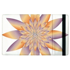 Chromatic Flower Gold Star Floral Apple Ipad 2 Flip Case by Alisyart