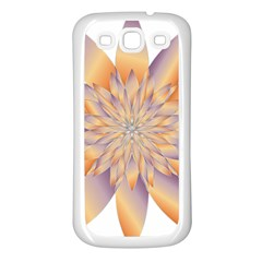 Chromatic Flower Gold Star Floral Samsung Galaxy S3 Back Case (white)