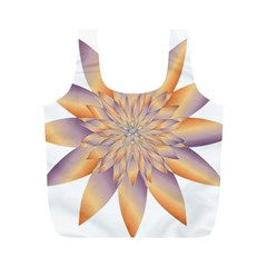 Chromatic Flower Gold Star Floral Full Print Recycle Bags (m)  by Alisyart
