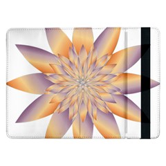 Chromatic Flower Gold Star Floral Samsung Galaxy Tab Pro 12 2  Flip Case by Alisyart