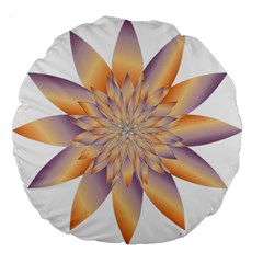 Chromatic Flower Gold Star Floral Large 18  Premium Flano Round Cushions