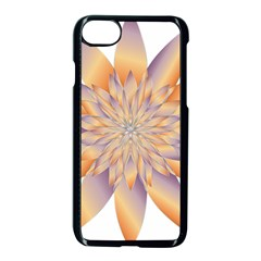 Chromatic Flower Gold Star Floral Apple Iphone 7 Seamless Case (black)