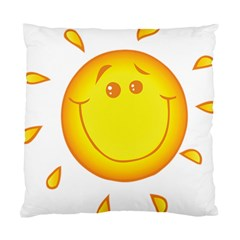 Domain Cartoon Smiling Sun Sunlight Orange Emoji Standard Cushion Case (two Sides) by Alisyart