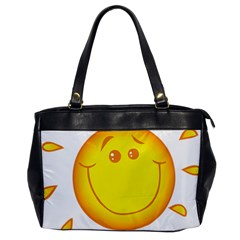 Domain Cartoon Smiling Sun Sunlight Orange Emoji Office Handbags