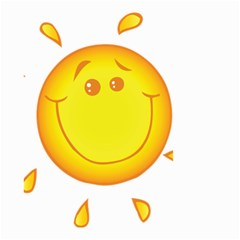 Domain Cartoon Smiling Sun Sunlight Orange Emoji Small Garden Flag (two Sides)