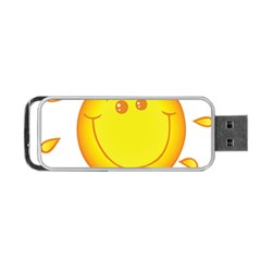 Domain Cartoon Smiling Sun Sunlight Orange Emoji Portable Usb Flash (two Sides) by Alisyart