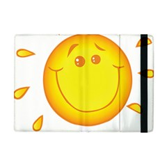Domain Cartoon Smiling Sun Sunlight Orange Emoji Apple Ipad Mini Flip Case by Alisyart