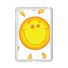 Domain Cartoon Smiling Sun Sunlight Orange Emoji Ipad Mini 2 Enamel Coated Cases