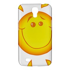 Domain Cartoon Smiling Sun Sunlight Orange Emoji Samsung Galaxy Mega 6 3  I9200 Hardshell Case by Alisyart