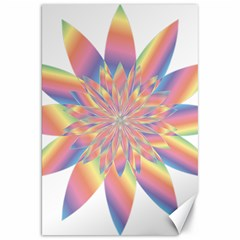 Chromatic Flower Gold Rainbow Star Canvas 20  X 30   by Alisyart