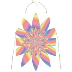 Chromatic Flower Gold Rainbow Star Full Print Aprons