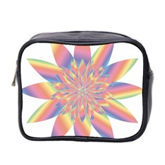 Chromatic Flower Gold Rainbow Star Mini Toiletries Bag 2 Side by Alisyart
