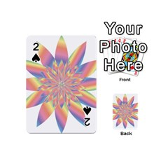 Chromatic Flower Gold Rainbow Star Playing Cards 54 (mini)