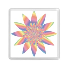 Chromatic Flower Gold Rainbow Star Memory Card Reader (square)