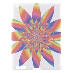 Chromatic Flower Gold Rainbow Star Apple Ipad 3/4 Hardshell Case (compatible With Smart Cover)