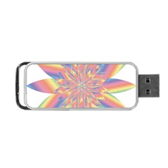 Chromatic Flower Gold Rainbow Star Portable Usb Flash (one Side)