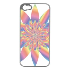 Chromatic Flower Gold Rainbow Star Apple Iphone 5 Case (silver) by Alisyart