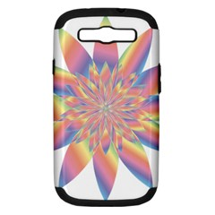 Chromatic Flower Gold Rainbow Star Samsung Galaxy S Iii Hardshell Case (pc+silicone)