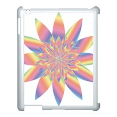 Chromatic Flower Gold Rainbow Star Apple Ipad 3/4 Case (white)