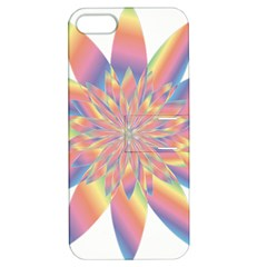 Chromatic Flower Gold Rainbow Star Apple Iphone 5 Hardshell Case With Stand