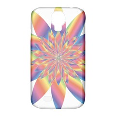 Chromatic Flower Gold Rainbow Star Samsung Galaxy S4 Classic Hardshell Case (pc+silicone) by Alisyart