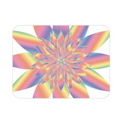 Chromatic Flower Gold Rainbow Star Double Sided Flano Blanket (mini)  by Alisyart