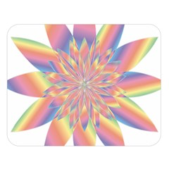 Chromatic Flower Gold Rainbow Star Double Sided Flano Blanket (large)