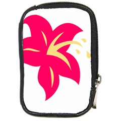 Flower Floral Lily Blossom Red Yellow Compact Camera Cases