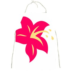 Flower Floral Lily Blossom Red Yellow Full Print Aprons
